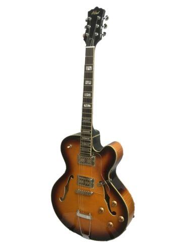 Alden AD-Dorchester 6 Semi Acoustic Guitar Vintage Sunburst Jazz Archtop Hollow