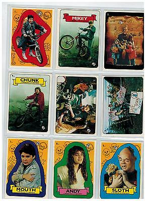 1985 TOPPS THE GOONIES COMPLETE 22 STICKER SET 15 +7 VARIATIONS PUZZLE SLOTH