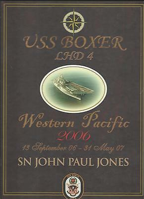 ☆* USS BOXER LHD-4 WESTPAC DEPLOYMENT CRUISE BOOK YEAR LOG 2006-2007 - NAVY *☆