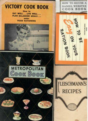 Vintage Recipe Advertising Booklets Lot of 5- Fleishmann