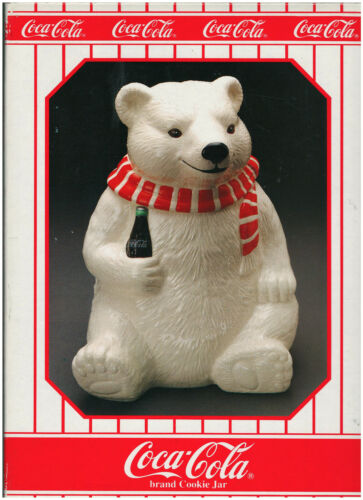 ALWAYS COOL Polar Bear Cookie Jar (Coca Cola Brand, 1994, #91051) FREE SHIPPING