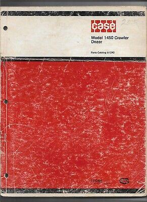Original Oem Oe Case 1450 Crawler Dozer Parts Catalog Form A1242 Dated 03-1974