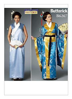 Butterick B6267 Making History PATTERN Kimono, Wrap Dress, Obi and Belt 6-22