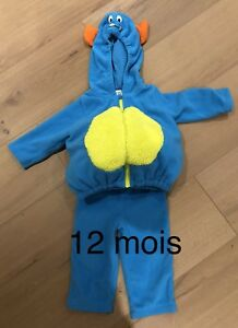 Costume d'halloween monstre 12 mois