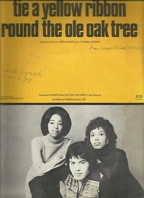 Tie A Yellow Ribbon Round The Ole Oak Tree Irwin Levine, L Russell Brown, Sheet