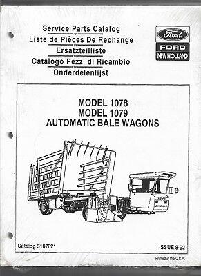 Original 892 New Holland 1078 1079 Automatic Bale Wagons Service Parts Catalog
