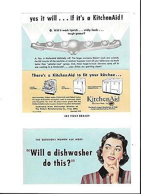 Vtg 1953 Kitchen Aid KitchenAid alliances advertisement print ad art / Ephemera