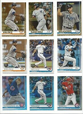2019 TOPPS SERIES 2 BASE PARALLEL's  - 150th, RAINBOW FOIL, GOLD /2019 -U PICK!! ()