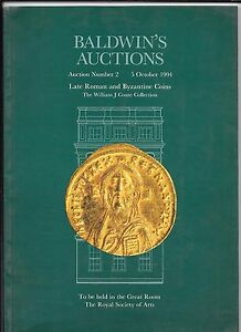 Baldwin-de-William-J-Conte-tarde-monedas-romanas-amp-bizantino-Collection-1994-Catalogo