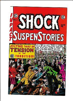 E.C. CLASSIC REPRINT  [1975 FN+] SHOCK SUSPENSTORIES #2  RED SCARE PROTEST COVER