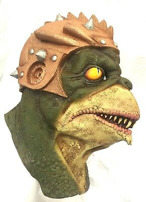 Halloween Latex Head Neck & Face Mask Reptilian Creepy Party Costume - Neck Face Halloween