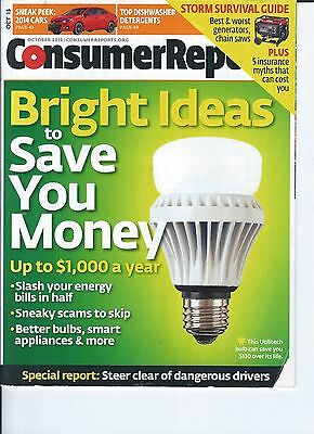 Consumer Reports October 2013 Bright Ideas To Save You Money Slash Energy Bills