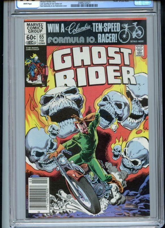 Ghost Rider #65 CGC 9.8 White Death of Loan Shark