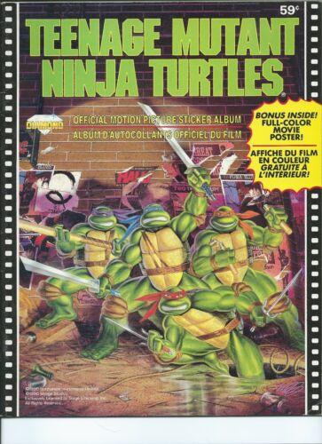 1990 TEENAGE MUTANT NINJA TURTLES Movie Diamond sticker Book