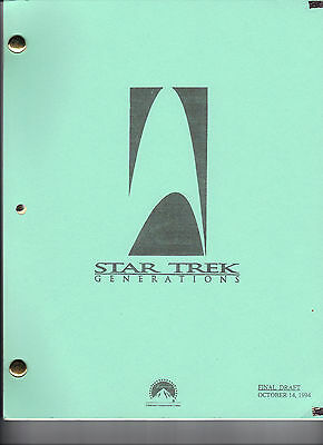 STAR TREK: Generations Movie Script