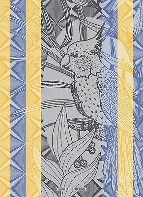 GARNIER THIEBAUT, PAPAGAIO (PARROT), WAX, WOVEN FRENCH KITCHEN / TEA TOWEL