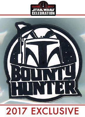 Star Wars Celebration Orlando 2017 - BOBA FETT - Bounty Hunter Pin - RARE - NEW
