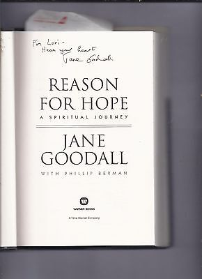 Reason For Hope A Spiritual Journey By Jane Goodall Signed Book Gorillas