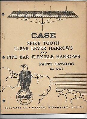 Original Case Spike Tooth U-bar Lever And Pipe Bar Flexible Harrow Parts Catalog