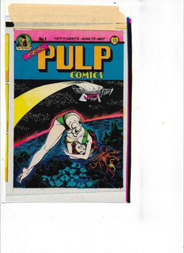 Original Color Overlays for Real Pulp Comics #1   post card