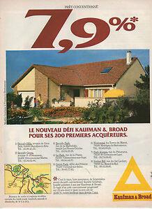Publicit advertising 1986 kaufman broad constructeur de for Constructeur maison individuelle kaufman