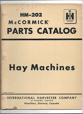 Original Oem Mccormick Hay Machines No. 2 Tractor Dump Rake Parts Catalog Hm-202