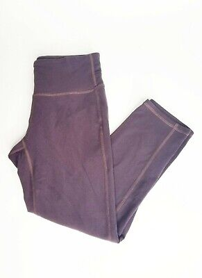 Athleta Yoga Pants Leggings Purple Cropped Capri Hidden Pocket Size XS