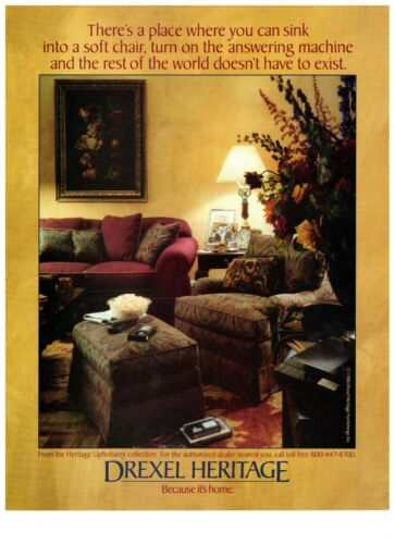 1990 Drexel Heritage Furnishings Upholstery Interior Vintage Print Advertisement