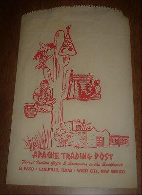 Vintage Paper Purchase Bag Apache Trading Post - El Paso Canutillo Texas  (El Paso Trading Post)