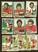1976 Topps Football Card Lot