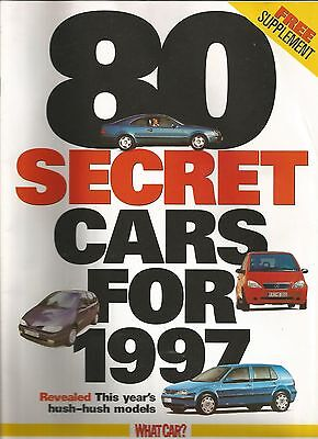 80 secret cars for 1997 supplement