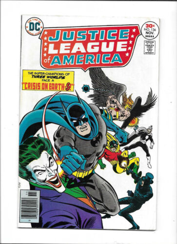 JUSTICE LEAGUE OF AMERICA #136 [1976 VG+] JOKER COVER!