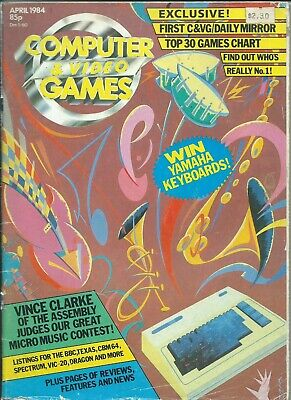 Computer Games - Computer and video games magazine April October 1984 commodore codes reviews ads