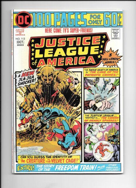 Justice League of America #113 October 1974 JLA JSA shocker