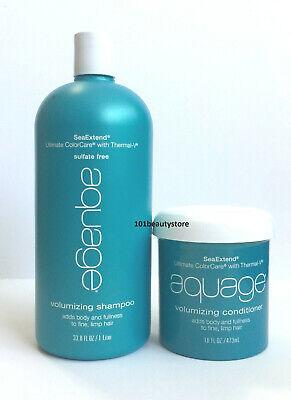 Aquage SeaExtend Volumizing Shampoo and Conditioner 33.8oz / 16oz **NEW**