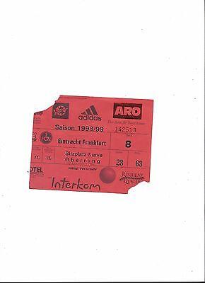 Gebraucht, 1.FC NÜRNBERG - EINTRACHT FRANKFURT, 24.03.1999, Sammler Ticket, 98/99 gebraucht kaufen  Nürnberg
