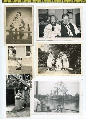 Old Halloween Costume Photos ((48) Vintage photo lot / COSTUMES Halloween PARTY HATS Fun OLD SNAPSHOTS)