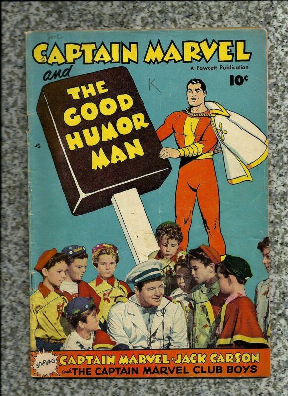 CAPTAIN MARVEL AND THE GOOD HUMOR MAN  1950 FAWCETT  GOLDEN AGE  NICE