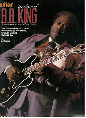 THE BEST OF B.B. KING KING OF THE ELECTRIC BLUES GUITAR MUSIC BOOK NEW ON (Best Electric Guitar Music)