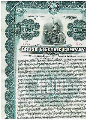 Brush Electric Co., 1912, Specimen