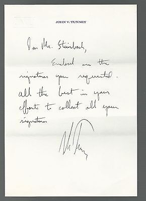 John V. Tunney Signed Auto Letter PSA/DNA Certified Autograph
