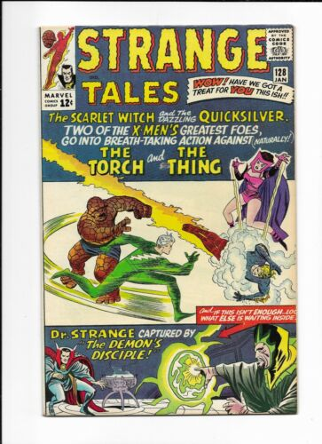 STRANGE TALES #128 ==> FN/VF SCARLET WITCH & QUICKSILVER MARVEL 1965