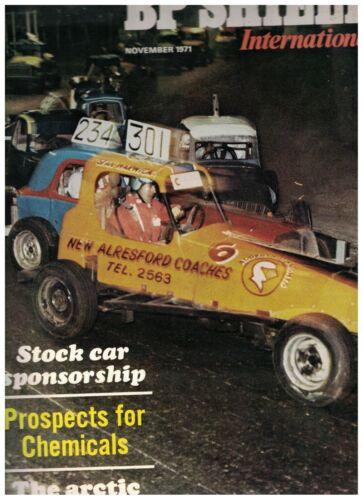 BP Shield International Magazine November 1971 Stock Car British Petroleum