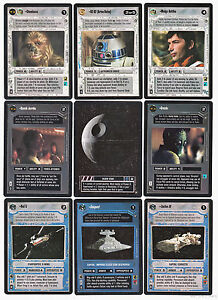 Star Wars CCG A New Hope Card Set Corellia/Red 5/Let the Wookiee Win/Wedge/Death
