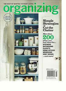THE BEST OF MARTHA  STEWART LIVING ORGANIZING,2012  SPECIAL COLLECTOR'S EDITION