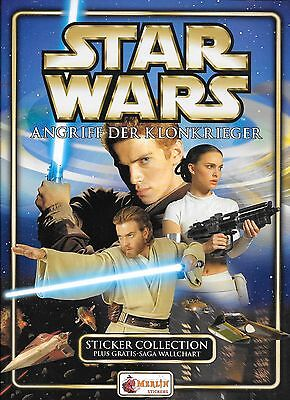 Star Wars Episode II Angriff der Klonkrieger Merlin Sticker Collection Leeralbum