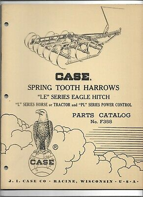 Case Spring Tooth Harrows Parts Catalog Le Eagle Hitch L Horse Or Tractor And Pl