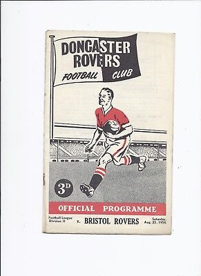 Doncaster Rovers v Bristol Rovers 25 August 1956