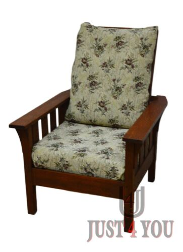 Antique Quartersawn Oak Mission Morris Chair