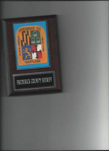FREDERICK COUNTY SHERIFF PHOTO PLAQUE LAW ENFORCEMENT OFFICER MARYLAND